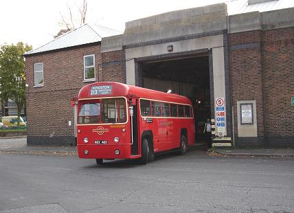 A 213 leaves Sutton Garage for Kingston (or does it...?)