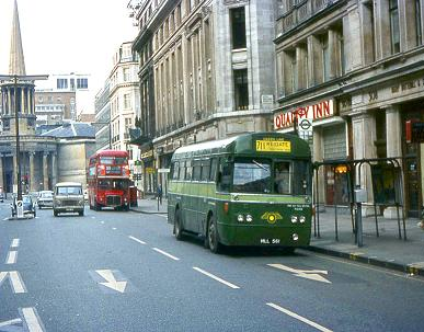 RF174 approaches Oxford Circus